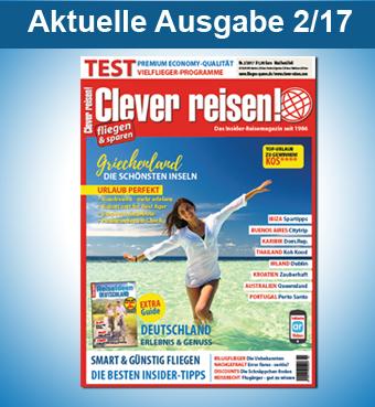 Clever reisen! aktuelle Ausgabe 2/17